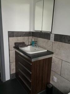 Bathroom - finished vanity unit