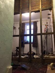 Bathroom wall gone
