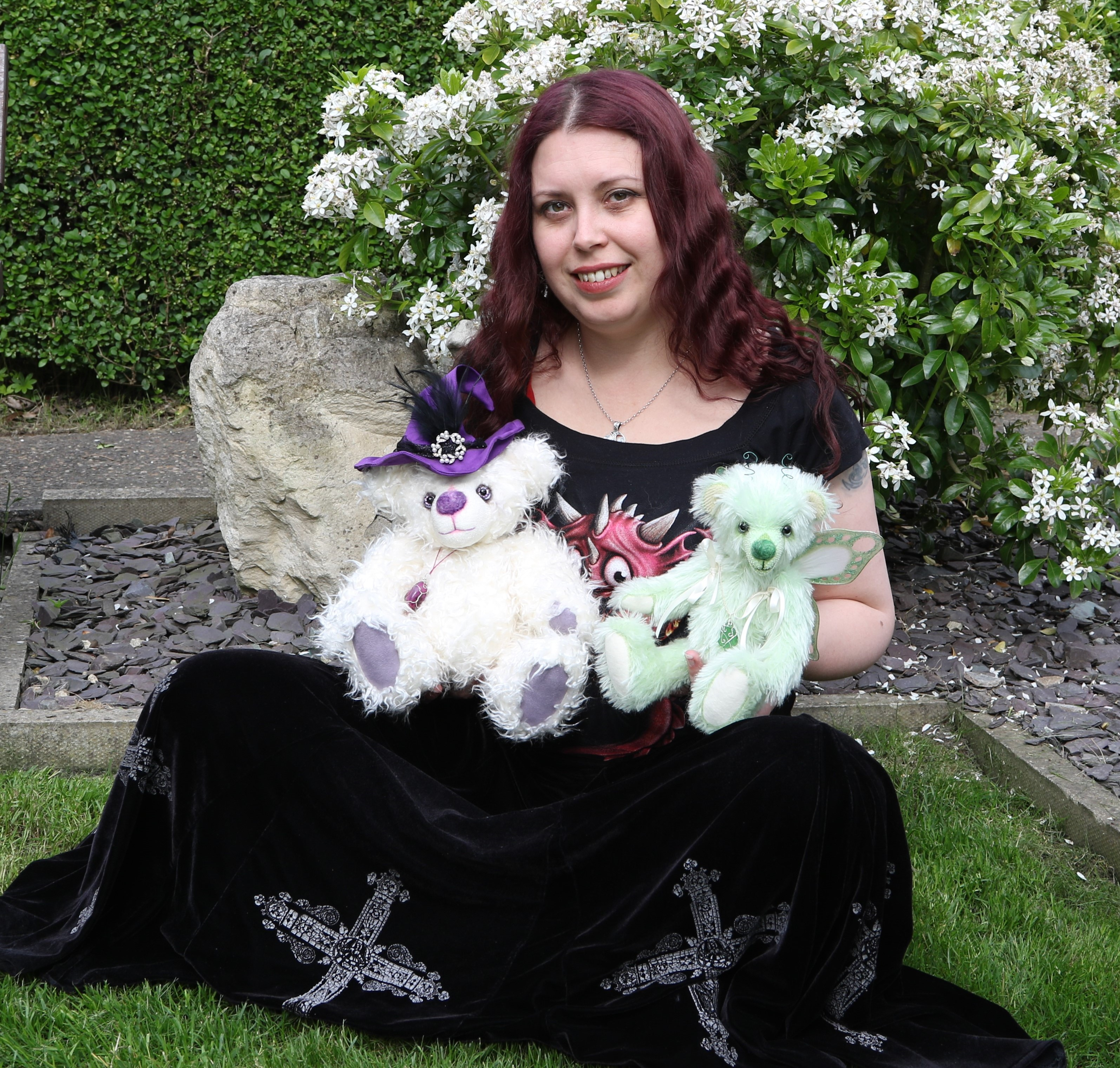 Brierley Bears | about the artist | Kat with bears