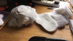 W.I.P Ælfweard - cut out & trimming seams